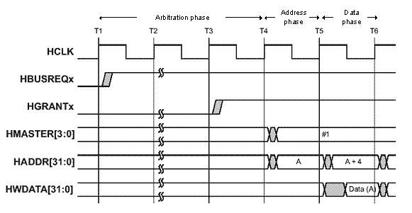 ARM AMBA AHB bus signaling