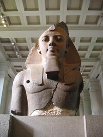 Ozymandias Colossal bust of Ramesses II, the 'Younger Memnon' (1250 BC) (Room 4)
