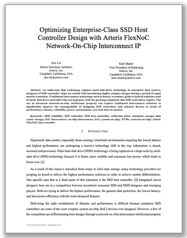 New tech paper: Optimizing Enterprise-Class SSD Host Controller Design